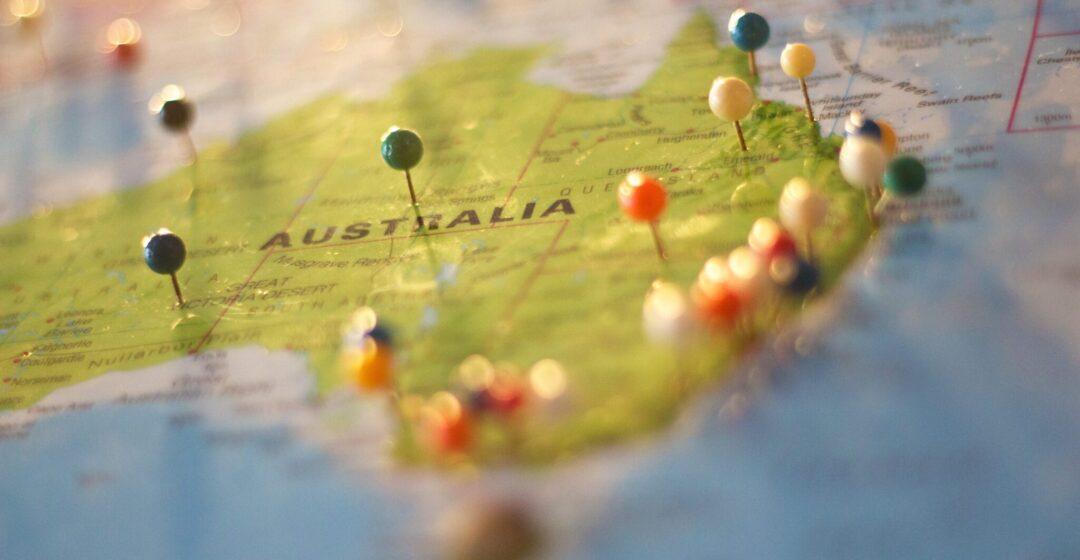 map of Australia, photo CC pexels-catarina-sousa-68704