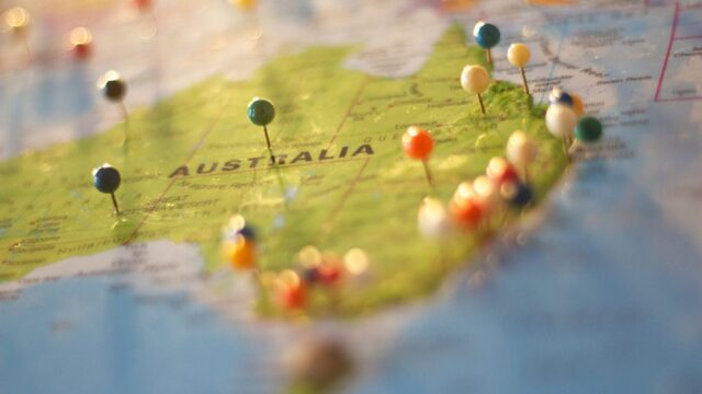 map of Australia, photo CC pexels-catarina-sousa-68704
